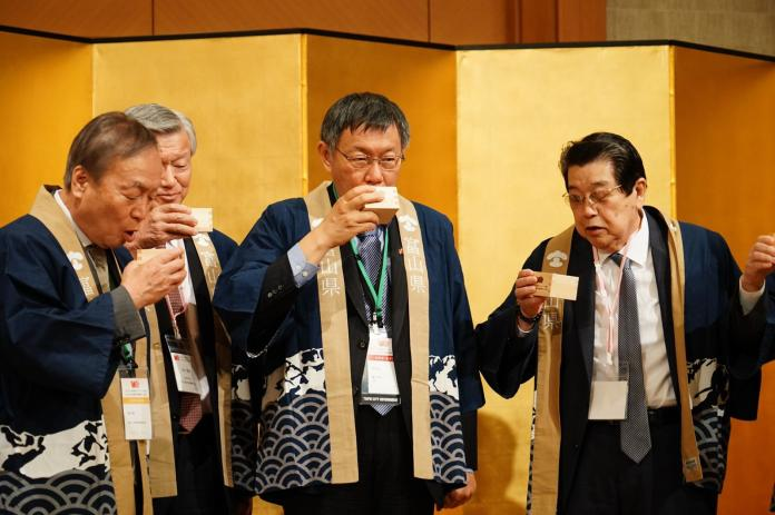 台北市長柯文哲訪問日本展開四天三夜拜會行程。(圖 / 台北市政府提供)