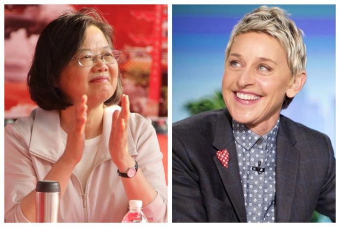 美知名主持人艾倫讚台灣同婚!蔡英文親自推文回應了