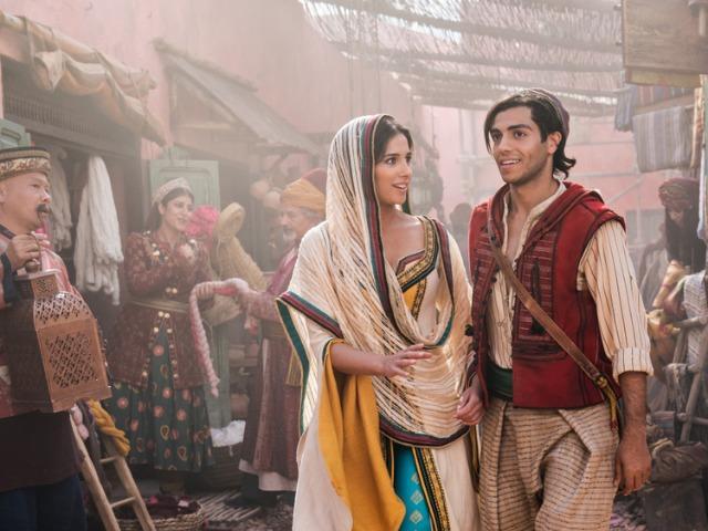<br> ▲娜歐蜜史考特認為阿拉丁跟茉莉公主是完美戀人。(圖/迪士尼影業)