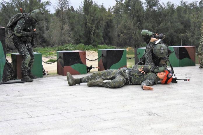 離島漢光實兵操演 金門兩棲營執行特攻突擊作戰