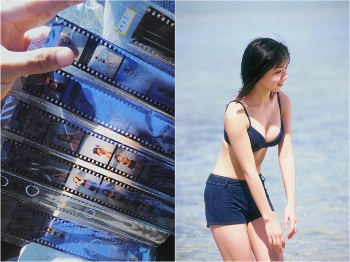 ▲一沖洗樂翻!5元買二手底片,20年前「女優泳裝照」曝光。(圖/翻攝自臉書)