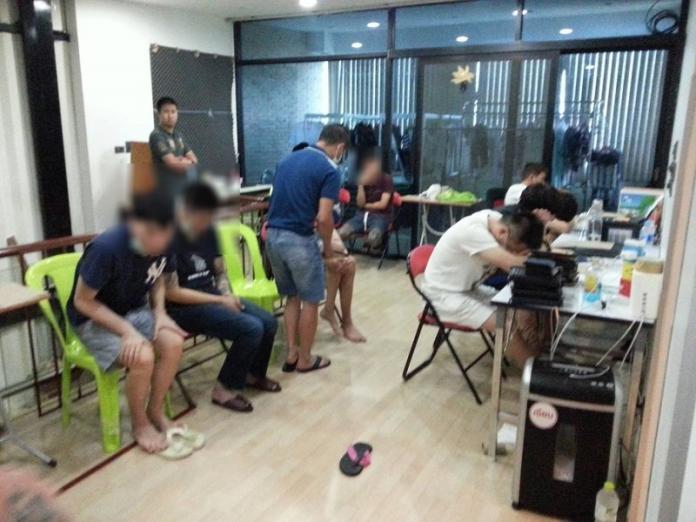 <br> ▲台灣詐騙集團被泰國警方查獲(圖/警方提供)