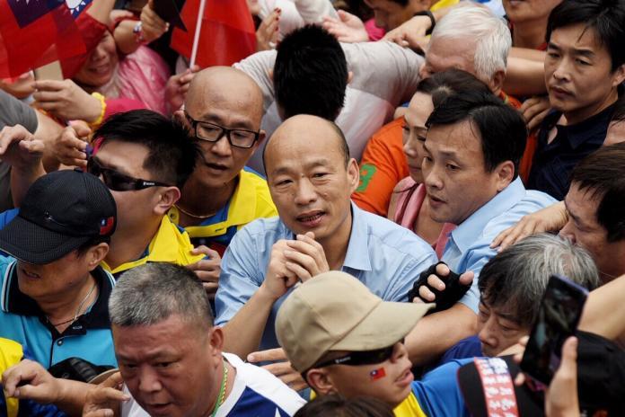 ▲韓國瑜在6月1日造勢大會上宣布,願為台灣擔任任何重要職務。 (圖/NowNews攝影中心攝)