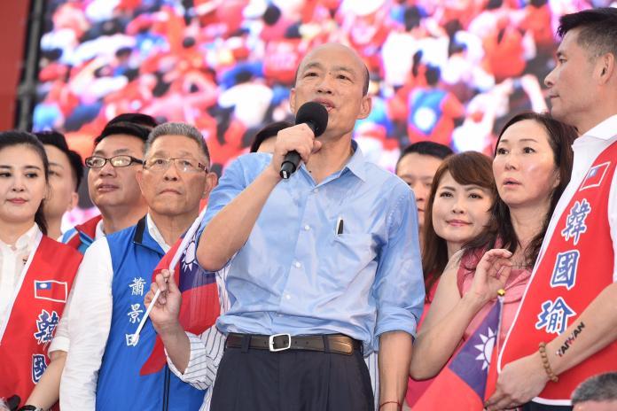 韓國瑜在 6 月 1 日造勢大會上宣布,願為台灣擔任任何重要職務。 (圖/NowNews攝影中心攝)
