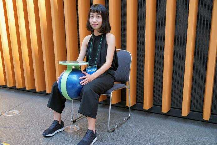 中華大學腳夾訓練球。(圖/中華創新發明學會提供)