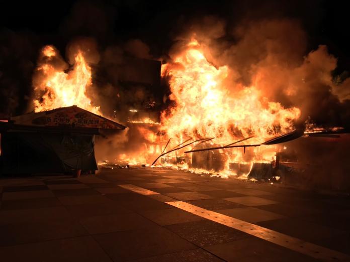 東大門夜市惡夜大火 燒毀32攤商