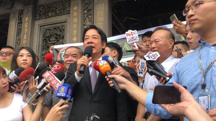 六四天安門事件30周年前夕,中國大陸國防部長魏鳳和昨天在新加坡說,六四鎮壓是正確的決定。對此,前行政院前院長賴清德今(3)日受訪時表示,這示中國仍然沒有悔改。(圖/賴清德辦公室提供)