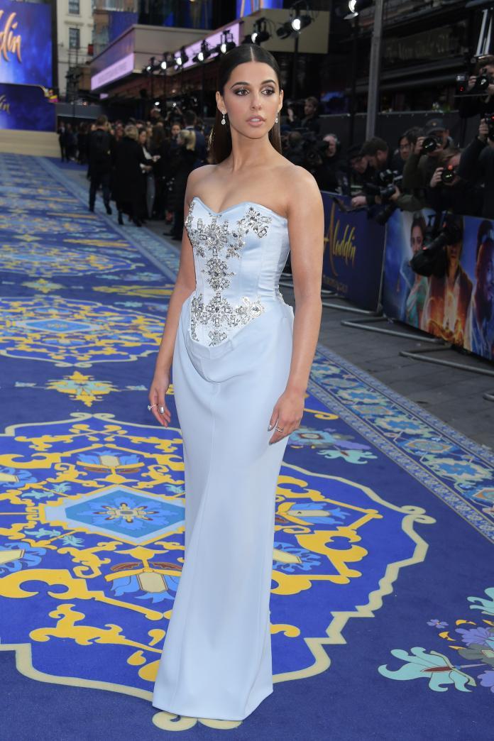 ▲娜歐蜜史考特出席《阿拉丁》倫敦電影首映會。(圖/BURBERRY提供)