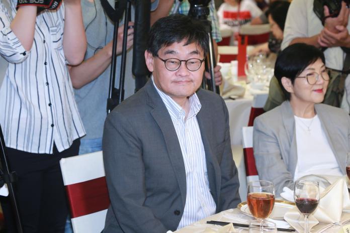 ▲華視總經理莊豐嘉出席108年度關懷演藝人員端午節聯歡餐會。(圖/記者葉政勳攝