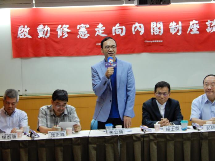 前新北市長朱立倫6日對黨內初選提出批評,「這段期間,我相信大家都已經看見,太多的明槍暗箭」。(圖 / 記者陳弘志攝,2019.06.06)