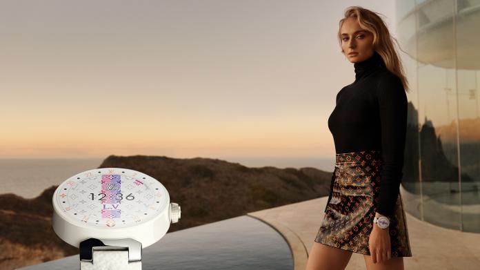 ▲蘇菲特納拍攝全新 Tambour Horizon 智能腕錶數位形象廣告。(圖/LOUIS VUITTON提供)