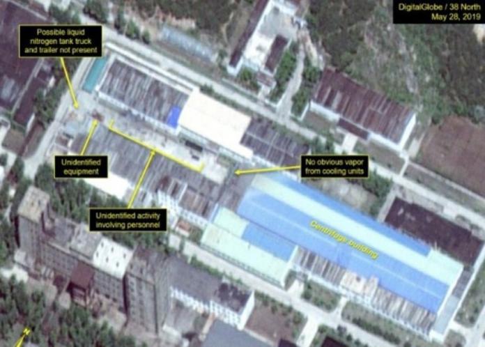 ▲「38 North」公布最新衞星圖片,顯示北韓寧邊核設施內有人活動。(圖/翻攝網路)