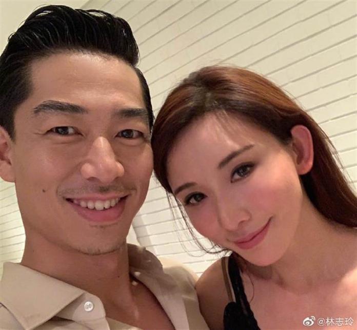 ▲林志玲與丈夫Akira。(圖/林志玲微博)