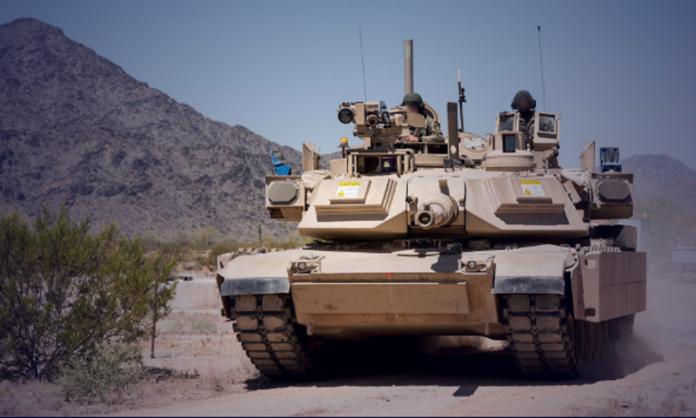 ▲加裝「戰利品」(Trophy)主動防護系統的美軍M1A2戰車。(圖/拉菲爾先進防禦系統公司RAFAEL Advanced Defense System)
