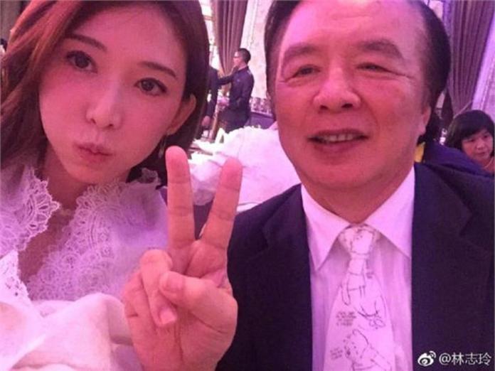 ▲林志玲和爸爸感情相當好。(圖/翻攝林志玲微博)