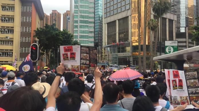 ▲香港政府修訂《逃犯條例》,引起 103 萬人上街抗議。(圖/翻攝自民間人權陣線粉絲團)