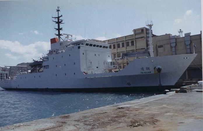 ▲海軍海洋測量艦「達觀艦」。(資料照/國防部提供 )