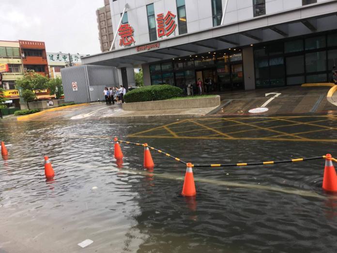 員林市鬧區淹大水