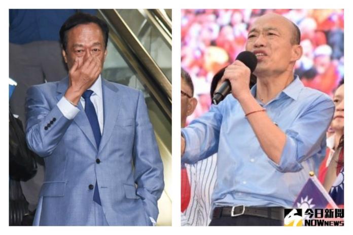 <br> ▲鴻海董事長郭台銘、高雄市長韓國瑜。(圖/NOWnews資料照)