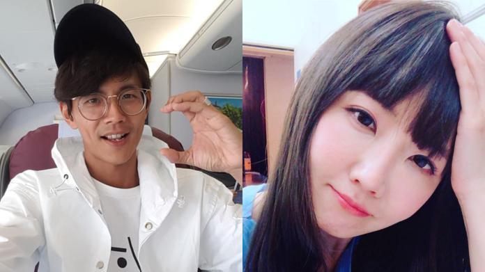 ▲阿翔(左)、謝忻不倫戀曝光。(圖/臉書)
