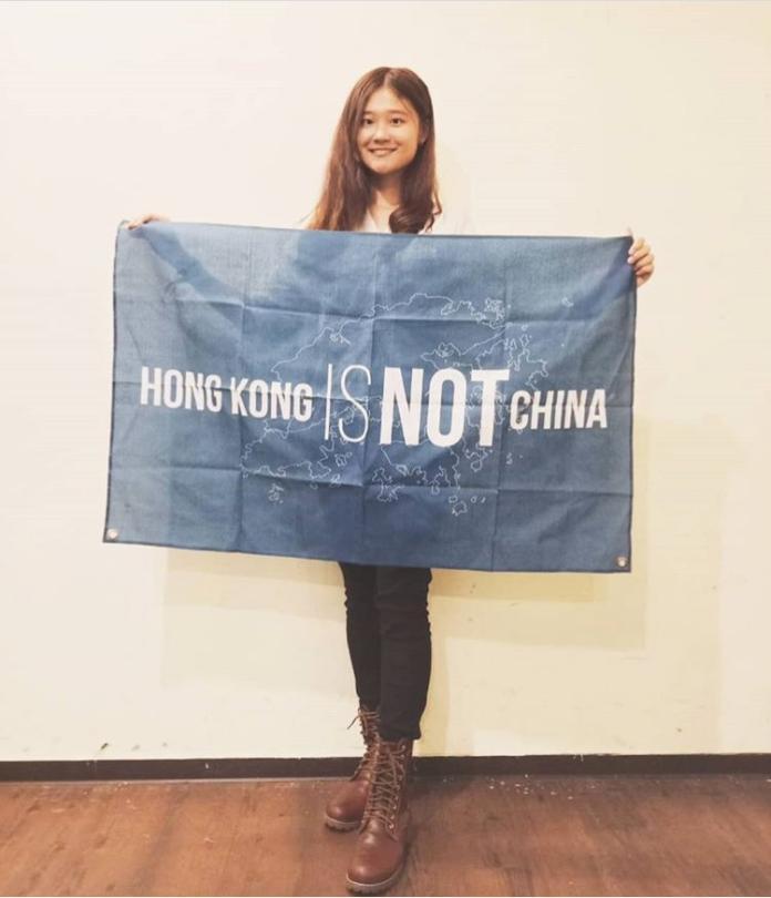 ▲這次香港「反送中」示威遊行,張珮歆毅然決然地買了機票就去香港支援。(圖/翻攝自 IG carey011677 )