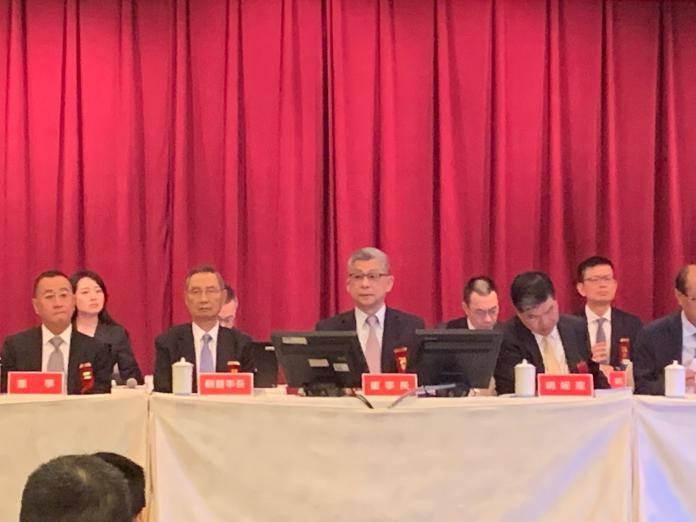 ▲國泰金控6月14日召開股東常會,由董事長蔡宏圖親自主持。(圖/記者顏真真攝)