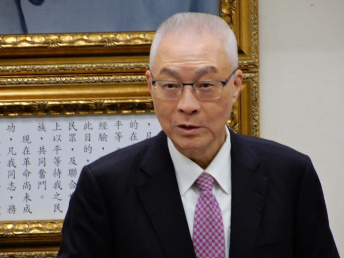 國民黨主席吳敦義。(圖/記者陳弘志攝)