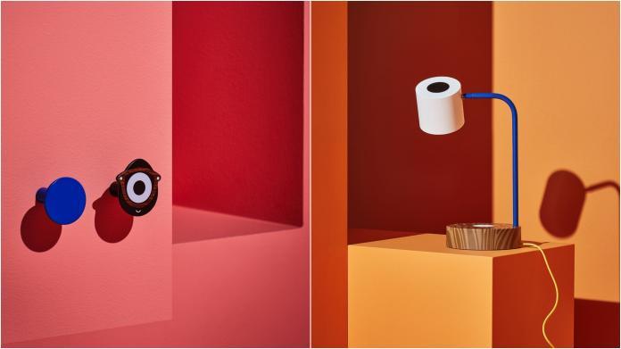 <br> ▲左:FÖRNYAD 掛勾,黑色,藍色 NT$79 / 2 件裝。右:FÖRNYAD LED 工作燈附無線充電座,藍色,白色 NT$2,390。(圖/IKEA提供)