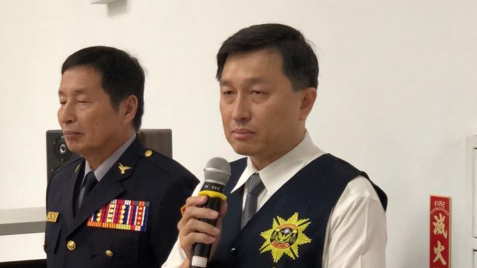 劉姓偵查佐遭槍殺,台南市刑大大隊長林宏昇(右)非常自責,未保護好自家同仁