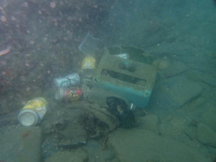 各式各樣的海底垃圾