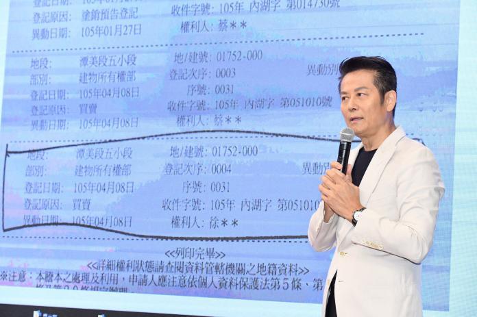 ▲徐乃麟被控詐財8千萬,再開記者會澄清。(圖/記者陳明安攝)