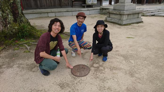 ▲很會觀察的林承毅,在大三島今治城找到已很罕見的日本舊式消防栓。(圖/林承毅提供)