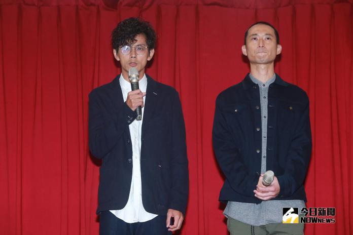 ▲阿翔(左)和浩子在記者會上6次鞠躬道歉。(圖/記者葉政勳攝 , 2019.06.18)