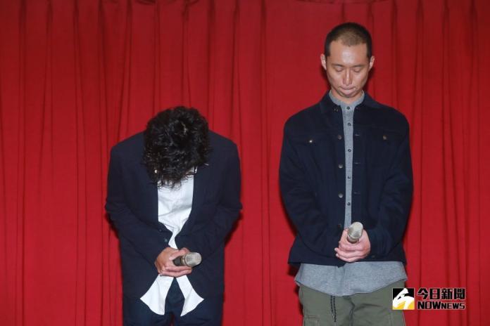▲記者會上,浩子(右)似乎比阿翔更難過。(圖/記者葉政勳攝)