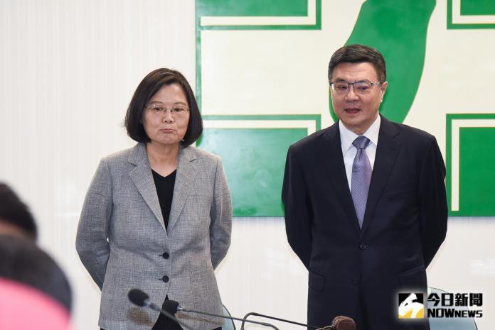 總統蔡英文、卓榮泰出席民進黨中常會。(圖/記者陳明安攝,2019.06.19)