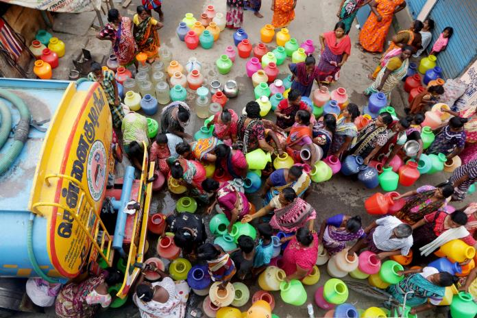 水庫見底 印度清奈460萬人恐全面斷水