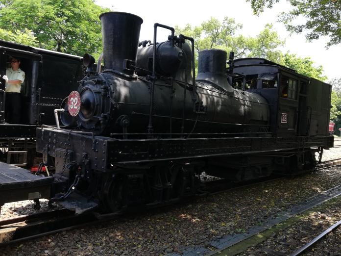 <br> ▲相隔21年,阿里山林鐵SL-32蒸汽火車從竹崎親水公園回家了。(圖/記者邱嘉琪攝,2019.06.21)