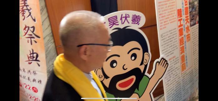 聽到吳音寧說韓身邊都是黑金,國民黨主席吳敦義僅說趕時間,並未正面回答。 (圖/記者吳承翰攝)