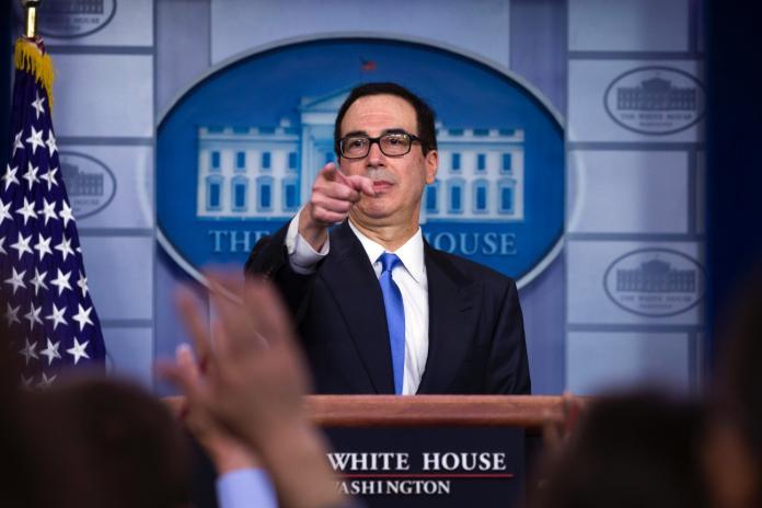 ▲美國財政部長梅努欽力阻價值 20 億美元的對台軍售案。(圖/美聯社/達志影像)
