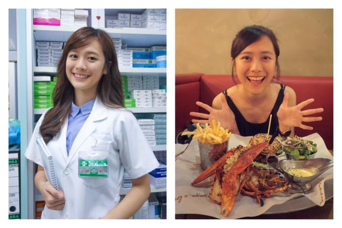 ▲網友分享清秀藥劑師的照片,甜美笑容讓鄉民直呼戀愛了。(圖/翻攝自yongwenmei的IG)