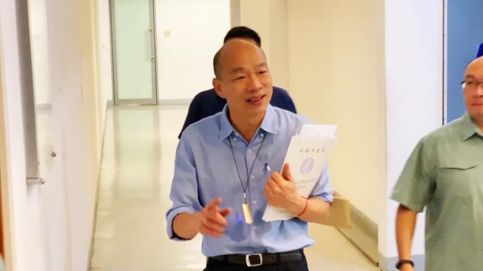 影/塞子說惹議 韓國瑜:台灣人自己決定自己的命運