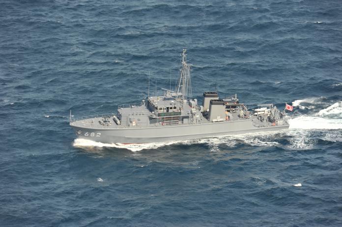 軍武/日掃雷艇與貨輪相撞 船身嚴重受損無力返航