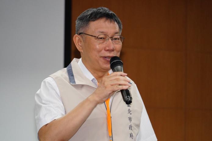 對於總統蔡英文民調回升一事,台北市長柯文哲29日表示,民調就像股票一樣,有高高低低,昨天就是跌到谷底而已。(圖/北市府提供)