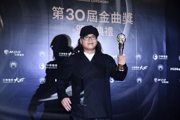 ▲流氓阿德獲得「最佳台語男歌手獎」。(圖/影像中心攝 )