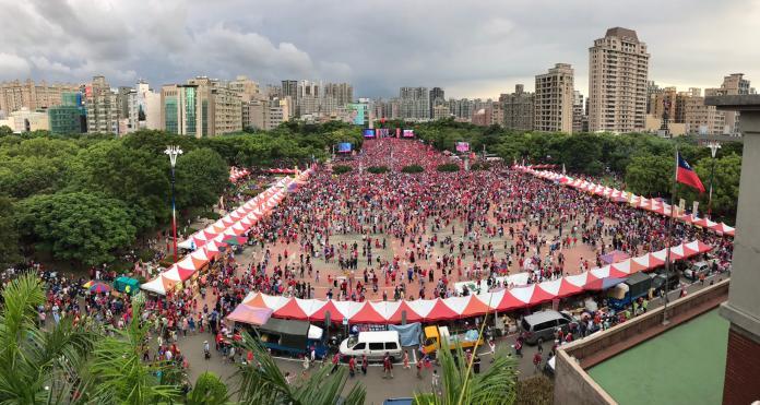 高雄市長韓國瑜30日在新竹縣舉行造勢大會。(圖 / 記者常似虎攝,2019.06.30)
