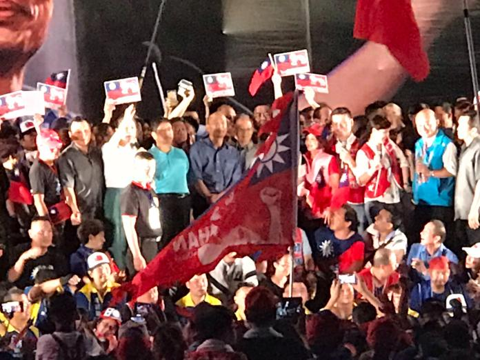 高雄市長韓國瑜30日在新竹縣舉辦黨內總統初選最後一場大型造勢晚會。(圖 / 記者常似虎攝,2019.06.30)