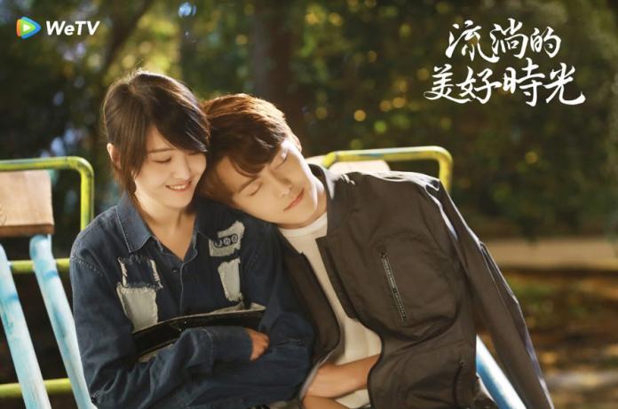 <br> ▲鄭爽(左)與馬天宇合作新劇《流淌的美好時光》。(圖/WeTV提供)