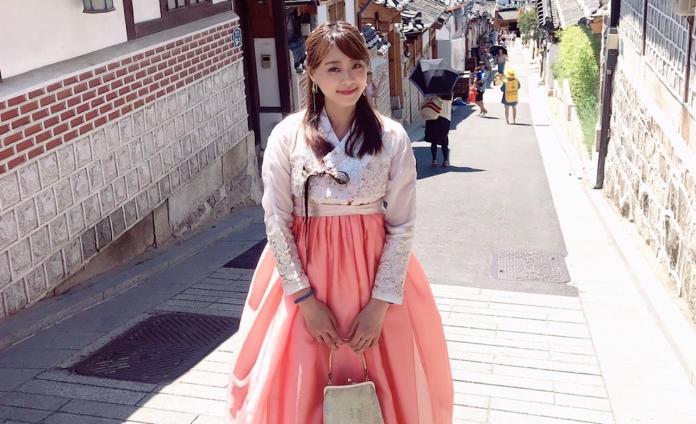 ▲黃星樺穿韓服。(圖/TVBS提供)
