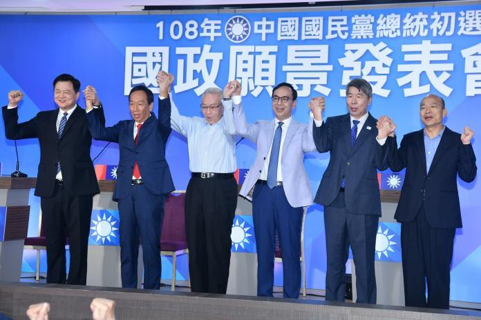 國民黨總統初選國政願景說明會最後一場在3日於台北登場。(圖 / 記者林柏年攝)