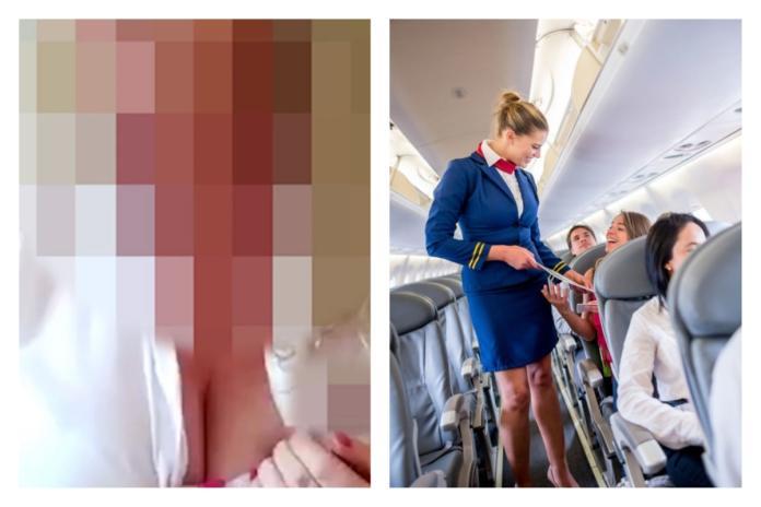 影/偷拿飛機上的酒!空服員「爛醉<b>裸奔</b>」自拍影片曝光